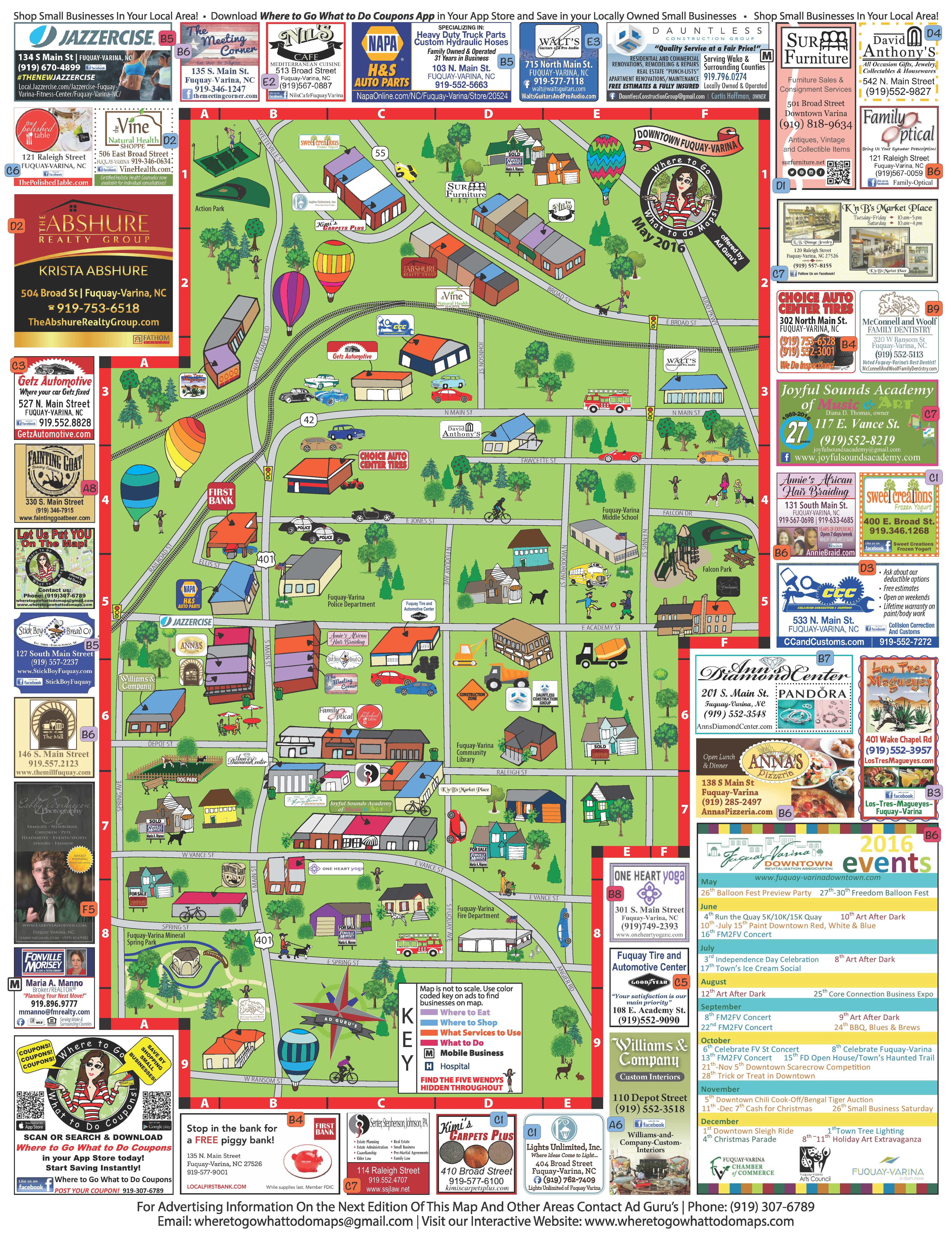 Downtown Fuquay Varina 2016 Where To Go What To Do Maps Fuquay
