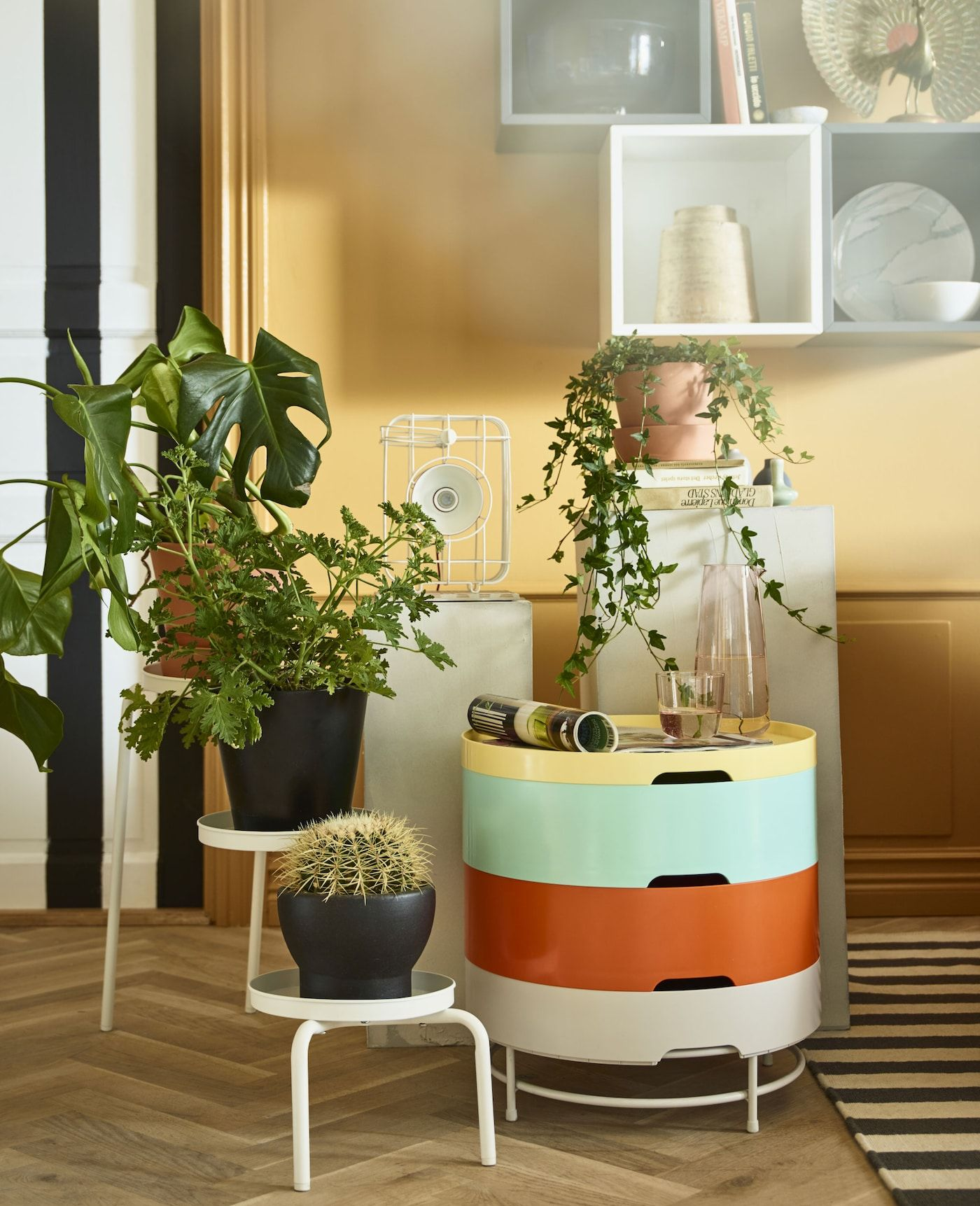 living room of a stylist modern take on tradition  ikea