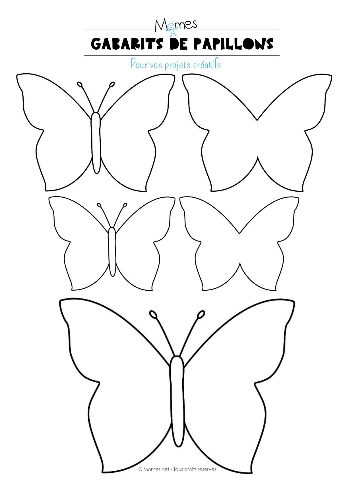 Papillon imprimer act man - Dessin papillon a decouper ...