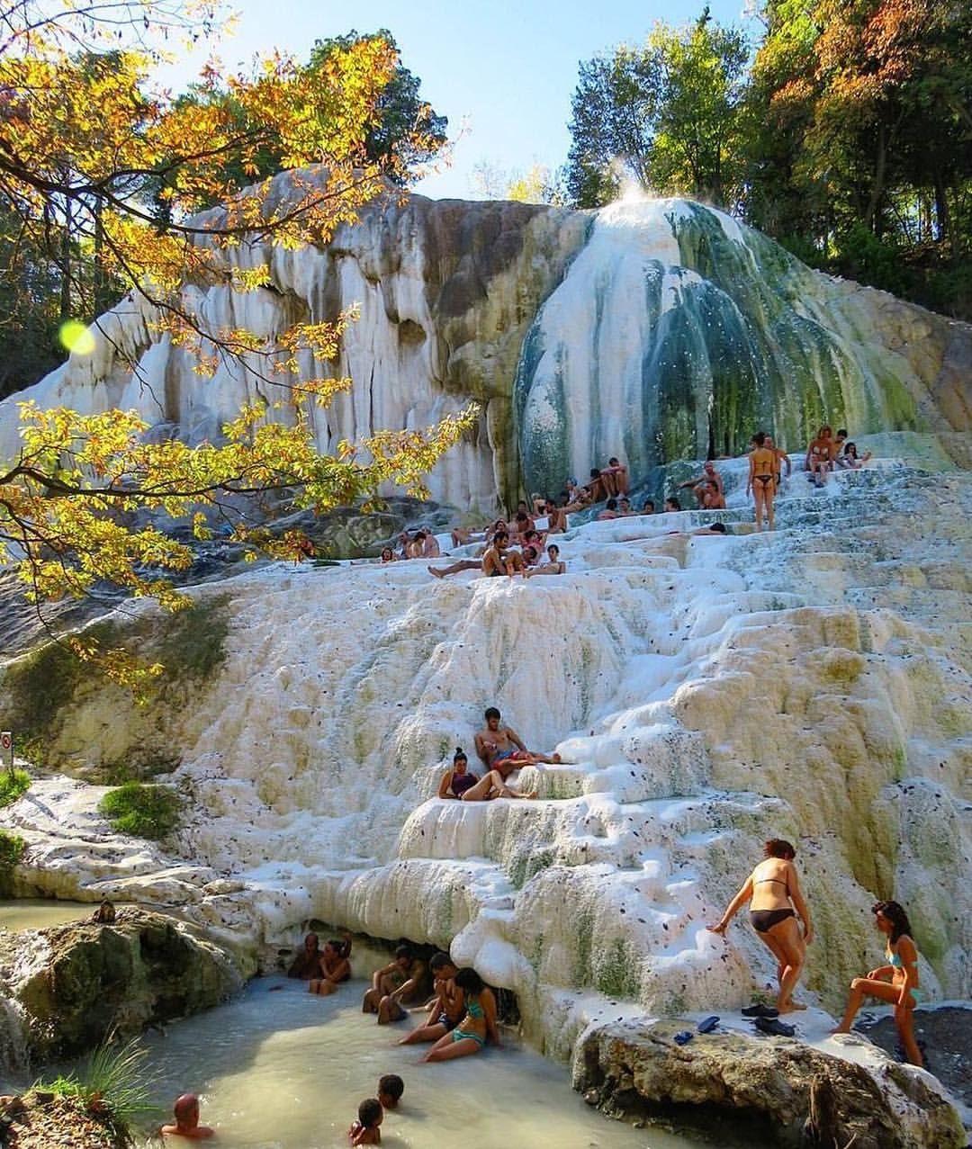 Terme Di Bagni San Fillipo Val D Orcia Hot Sulfur Baths Tuscany