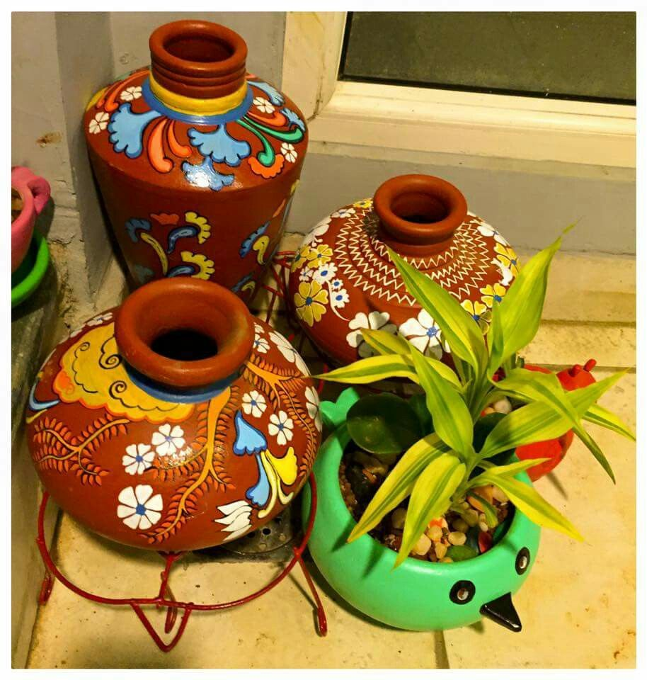 images garden decorative flower en colorful lighting container yellow ceramic red green pots leaves photo nursery free vase blue decor planters greenery