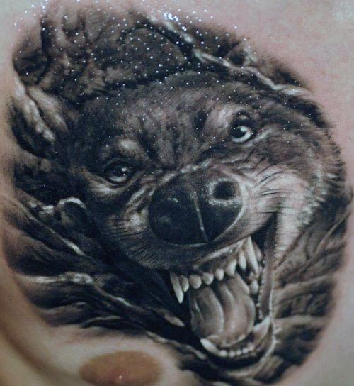 50 Realistic Wolf Tattoo Designs For Men Canine Ink Ideas Wolf Tattoo Design Wolf Tattoos Tattoos
