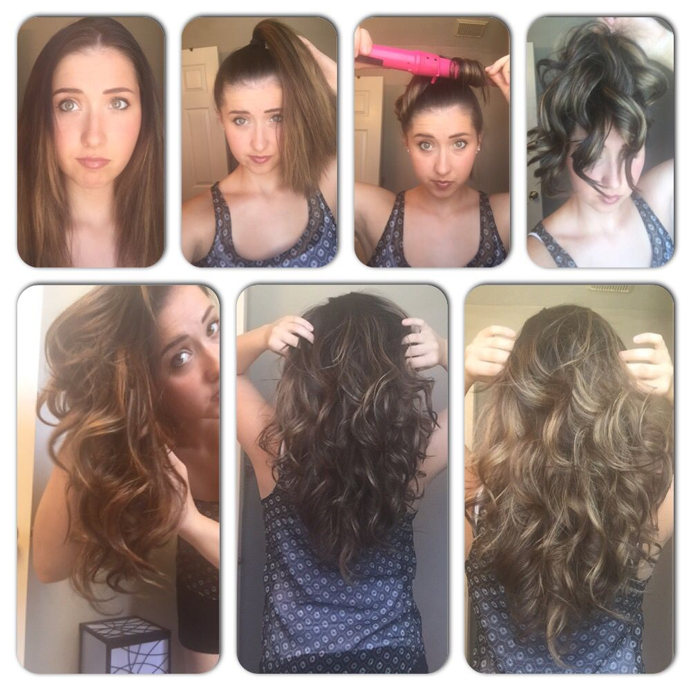 Easy, fast curls for thick long hair.  Curls for long hair, Easy
