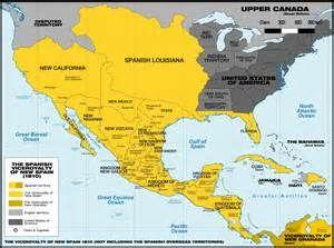 Map Of New Spain De Búsqueda MapsUSA Pinterest Viva - Us map 1821
