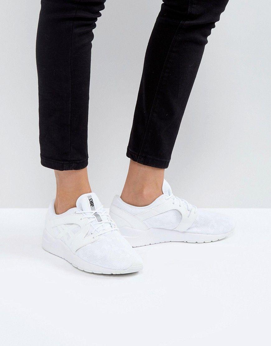 ASICS MESH GEL-LYTE KOMACHI SNEAKERS IN WHITE - WHITE. #asics #shoes