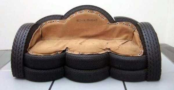 Sofa made from tyres 30 awesome and creative ideas to for Old tyre uses