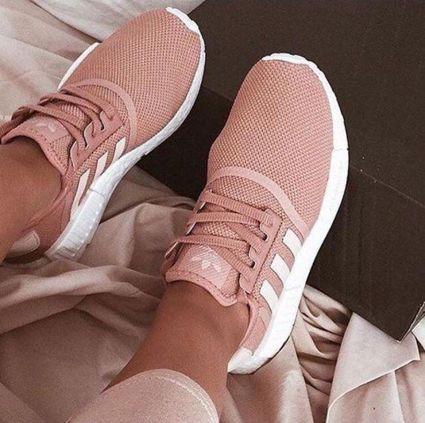 85e9faffb918 Adidas Women Fashion Trending Pink Running Sports Shoes