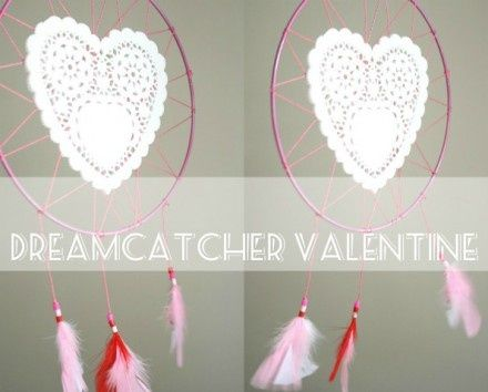 Tutorial Valentine Doily Dream Catcher By Cintia At My Poppet Simple How To Make Doily Dream Catchers