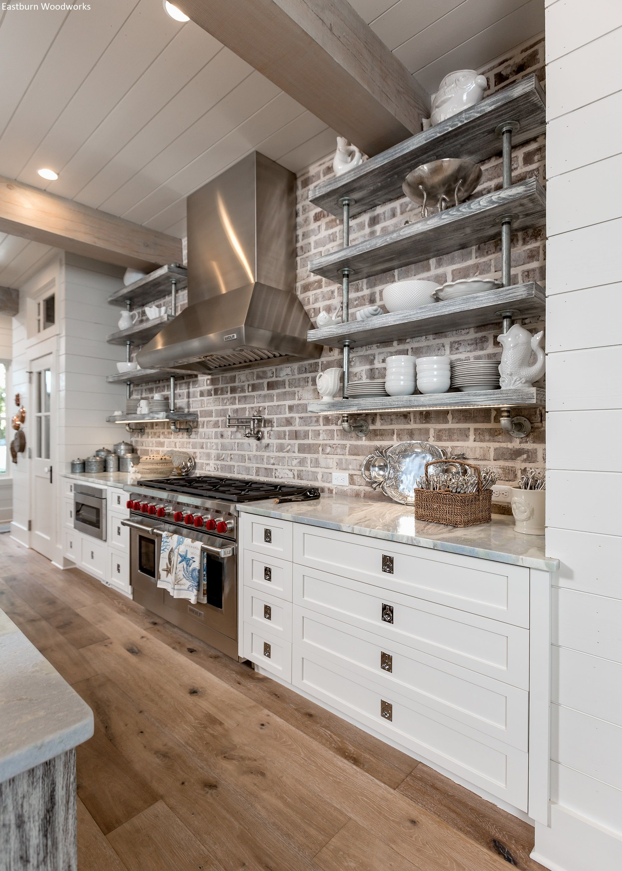 Use tile as back round for cabinets kitchen pinterest barn