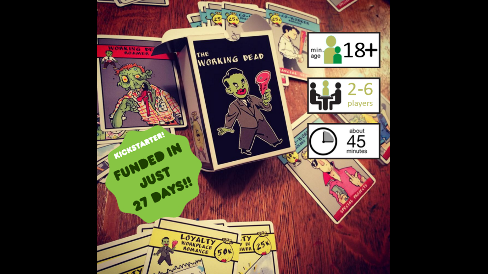 The Working Dead is a card game about working in the most toxic office environment possible. Oh, and there is also the Undead.