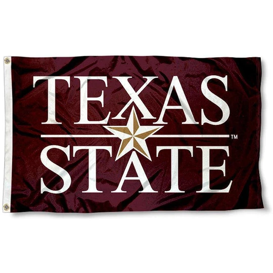 Texas State University Flag In 2020 Texas State University Texas State Bobcats Texas State