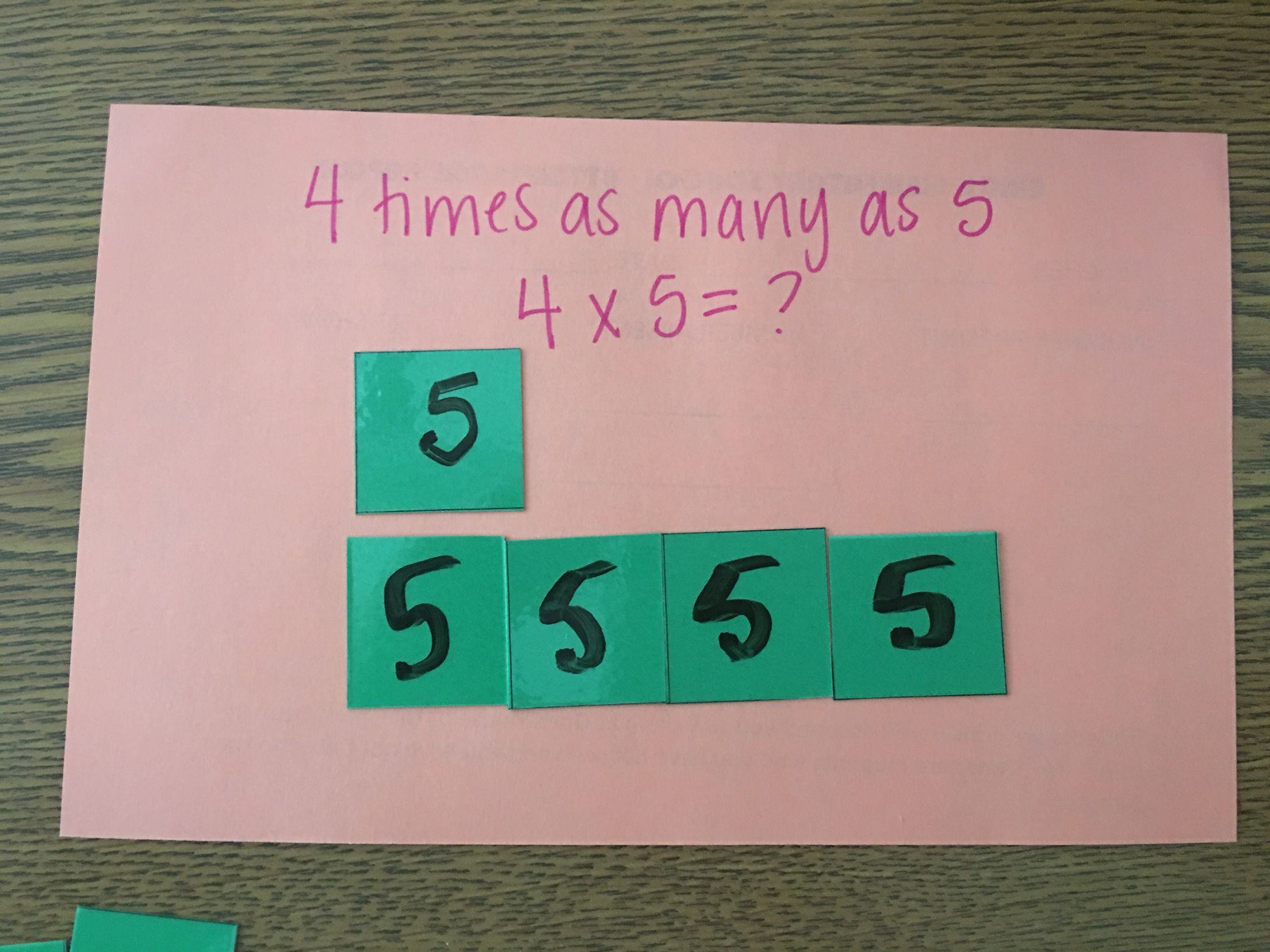 medium resolution of Multiplicative Comparison: Using manipulatives to show bar models.   4th  grade multiplication