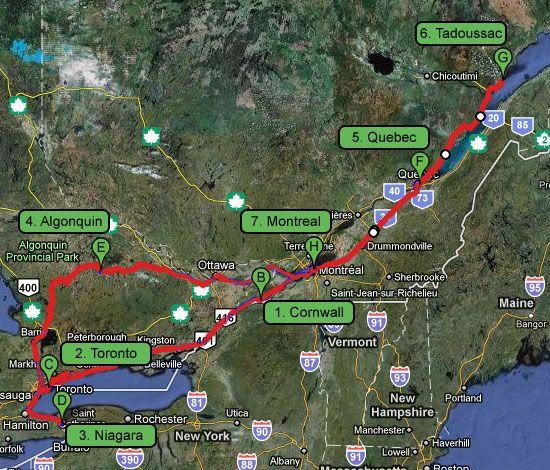 Mapa Canadá Costa Este Vacaciones En Canada Pinterest - Canada mapa