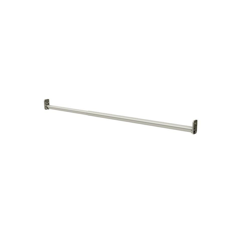 Closetmaid Style 26 5 In Satin Nickel Adjustable Hang Rod 2179 The Home Depot In 2020 Closetmaid Satin Nickel Affordable Organizing
