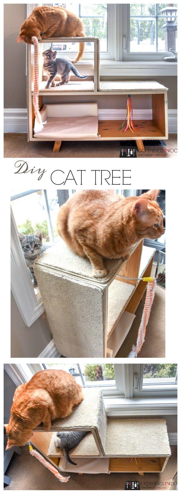 Diy Cat Tree Diy Cat Playground Diy Cat Scratching Post Kitten Playground Kitten Tree Catsdiyplayground Diy Cat Tree Cat Diy Diy Cat Scratching Post