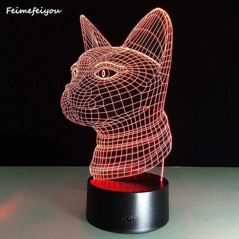 Feimefei 16 animals series LED Table Night Light 3D Optical Illusion