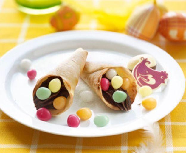 Canutillos Con Obleas De Empanadilla Rellenos De Crema De Choco Nestle Cocina Recetas De Cocina Empanaditas Dulces