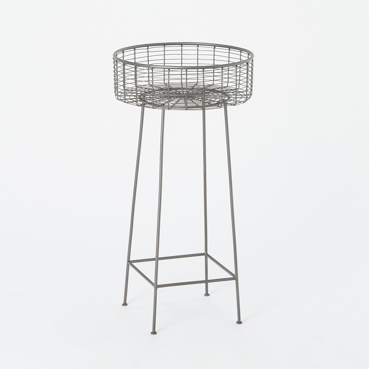 Round Basket Plant Stand Large