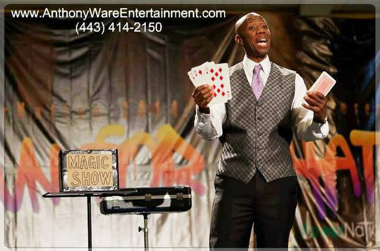 HIRE Bel Air MD Magician Anthony Ware. He is a