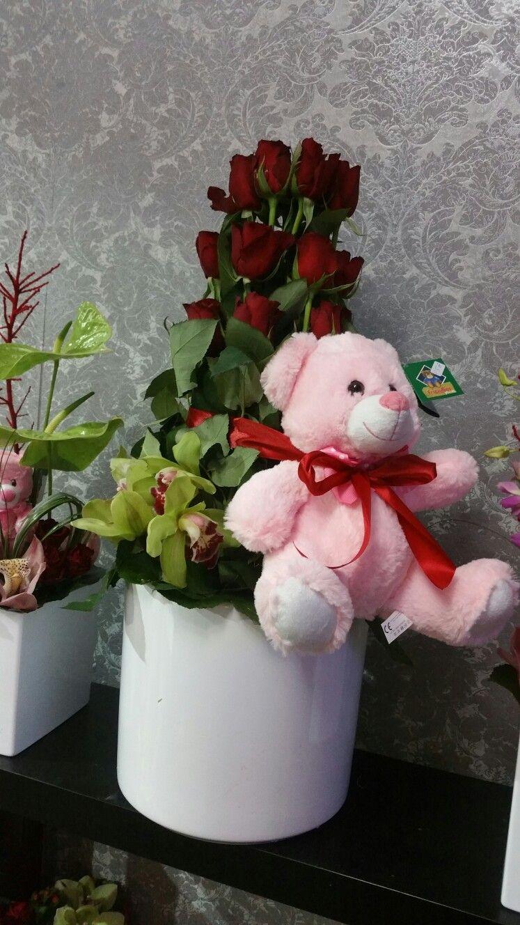 e306083cf4 Προτάσεις δώρων για ερωτευμένους. Κόκκινα τριαντάφυλλα και λούτρινο  αρκουδάκι. Στις 14 2 -