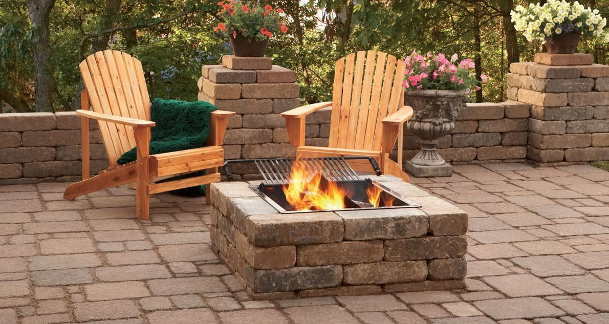 Square Fire Pit Ideas Fire Pit Plans Stone Fire Pit Backyard Fire