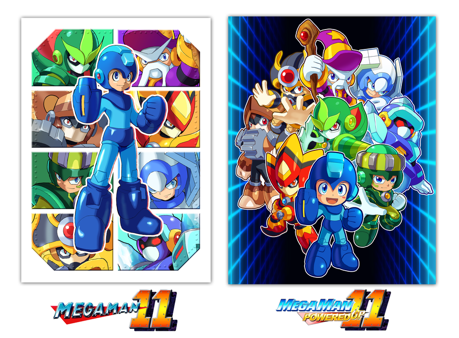 Megaman 11 And Powered Up 11 Mega Man Megaman 11 Character Inspiration
