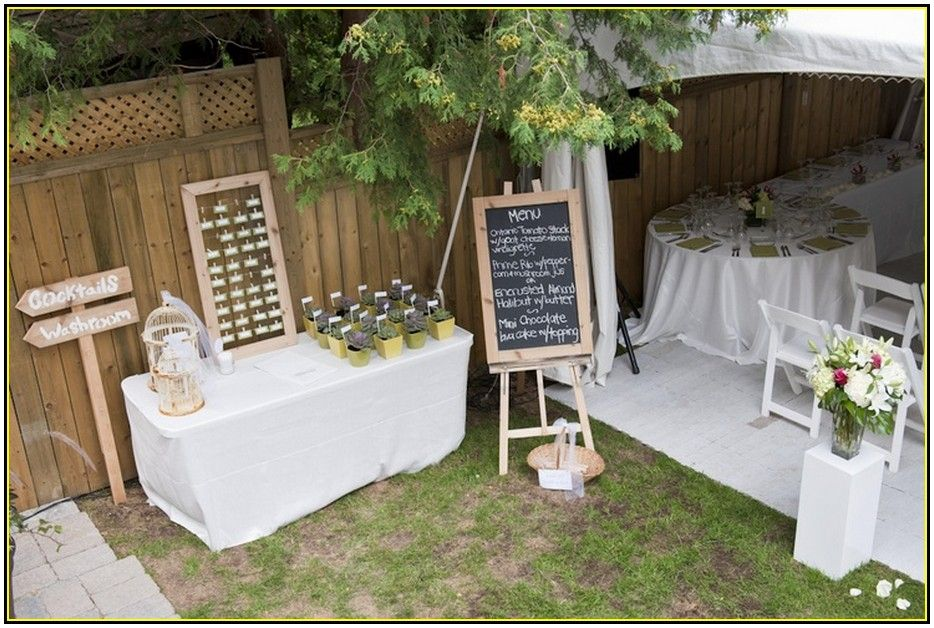 Good Small Wedding At Home Ideas Part - 3: Small Backyard Wedding - Has Similar Layout To Our Backyard Chanda Goins  Goins Feldman
