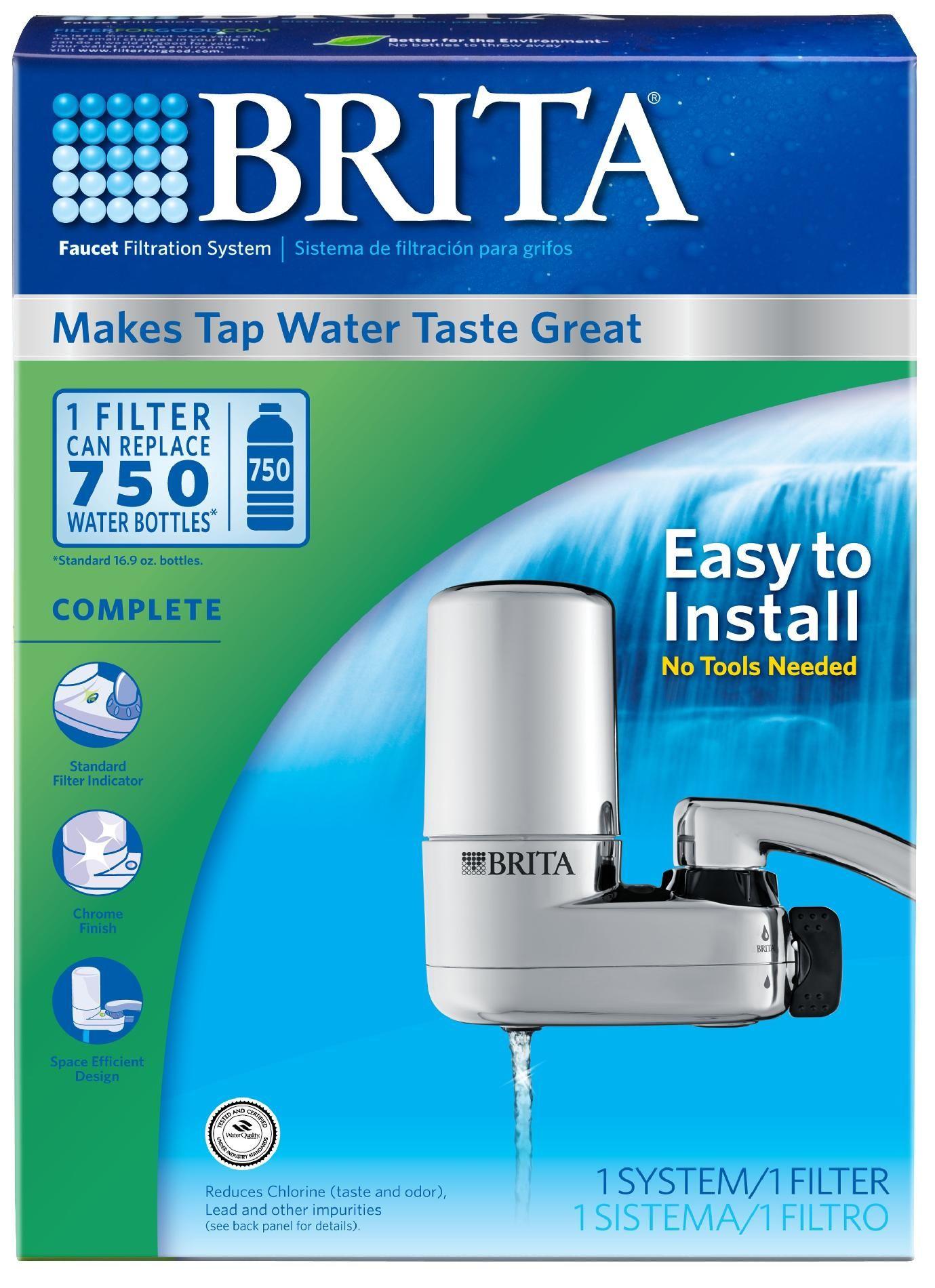 Brita Chrome Faucet Mount Filtration System (060258356182) Reduces ...