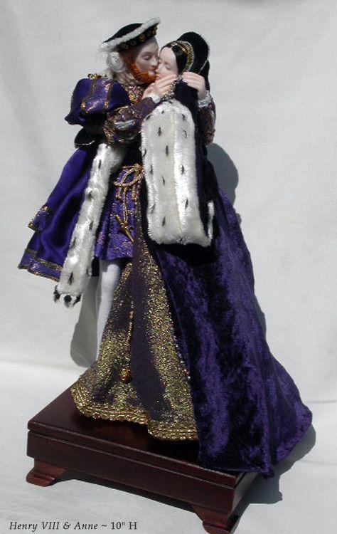 Henry VIII and Anne Boleyn, created by Stephanie Blythe
