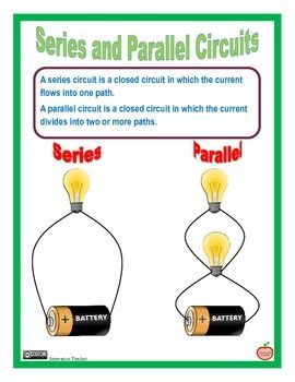 series and parallel circuit electricity and magnetism unit rh pinterest com