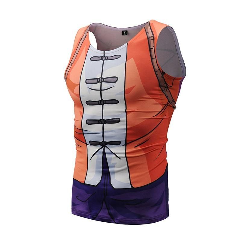 Anime Cosplay Outfit Gear 3D Bodybuilding Tank Top