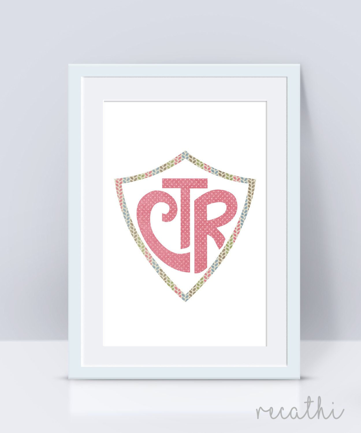 CTR, Choose The Right, baptism lds, stamped ctr, LDS Home Decor ...