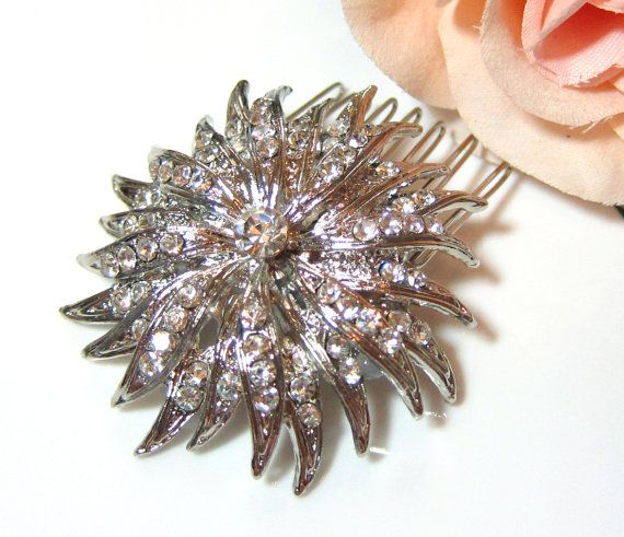 BRIDAL  Wedding Hair Comb Bridal Accessories White by GlitzAndLove, $20.00