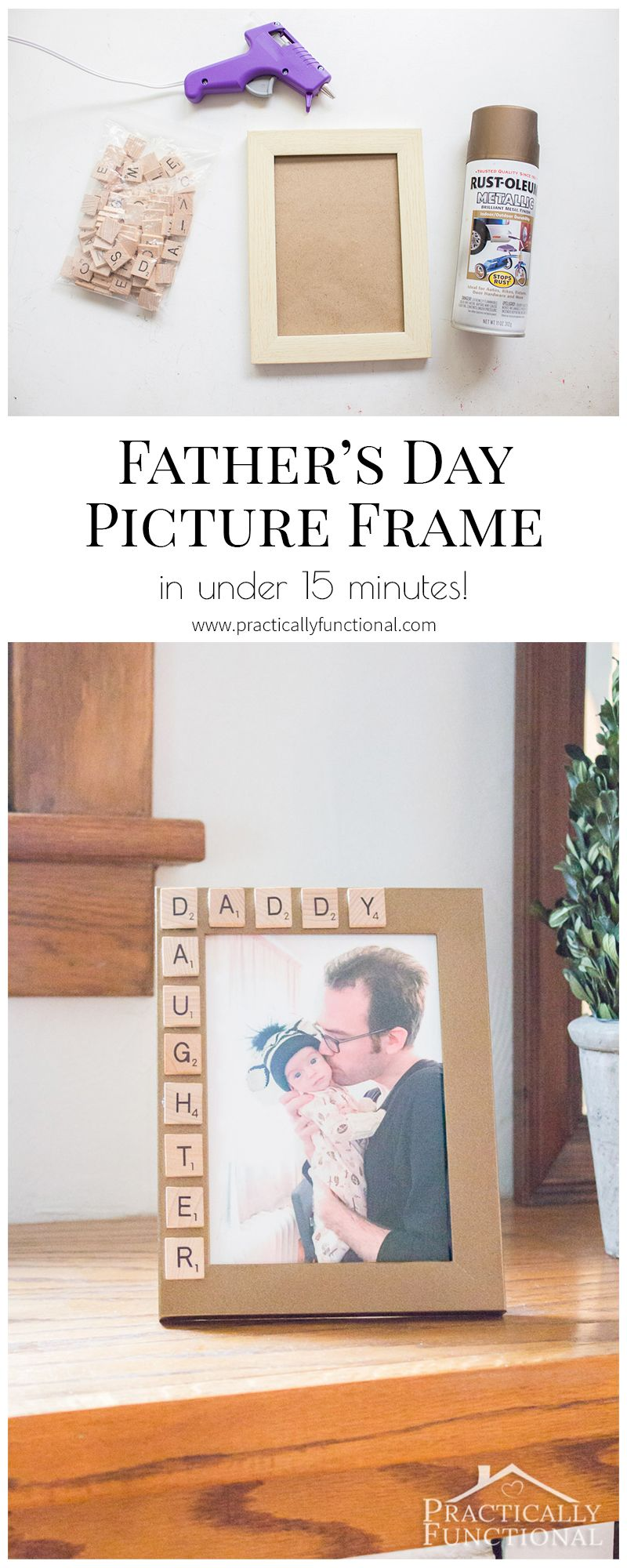 10 Minute Father\'s Day Picture Frame | Bloggers\' Best DIY Ideas ...