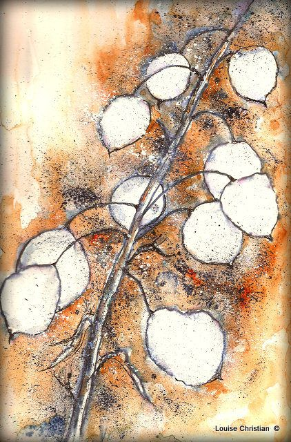 Inks Watercolor Honesty Painting Aquarelle Encre Et Peinture
