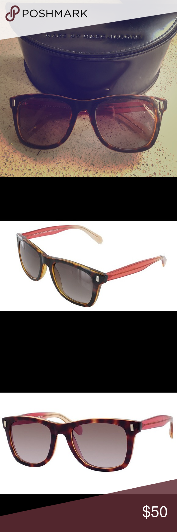 Marc by Marc Jacobs Sunglasses - Brown/Coral Bold Marc By Marc ...