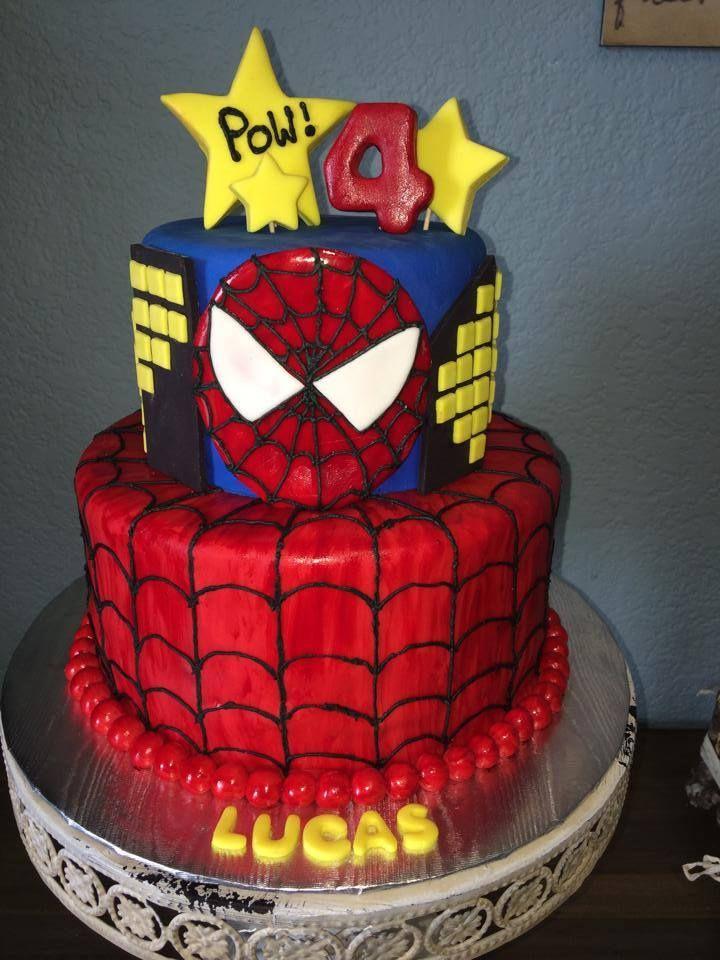 Spiderman cake | Spiderman cake, Cake, Desserts