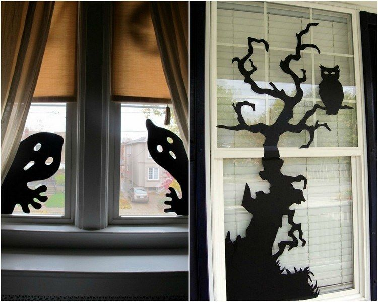 bricolage facile d co fen tre automne et halloween 46 id es deco fenetre bricolage facile et. Black Bedroom Furniture Sets. Home Design Ideas