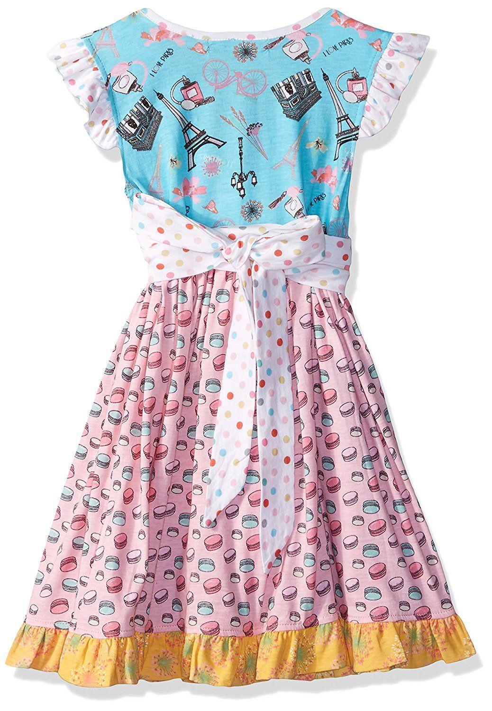 fb9701bff31c Amazon.com  Jelly The Pug Little Girls  Spring in Paris Macaroon Mischa  Dress  Clothing
