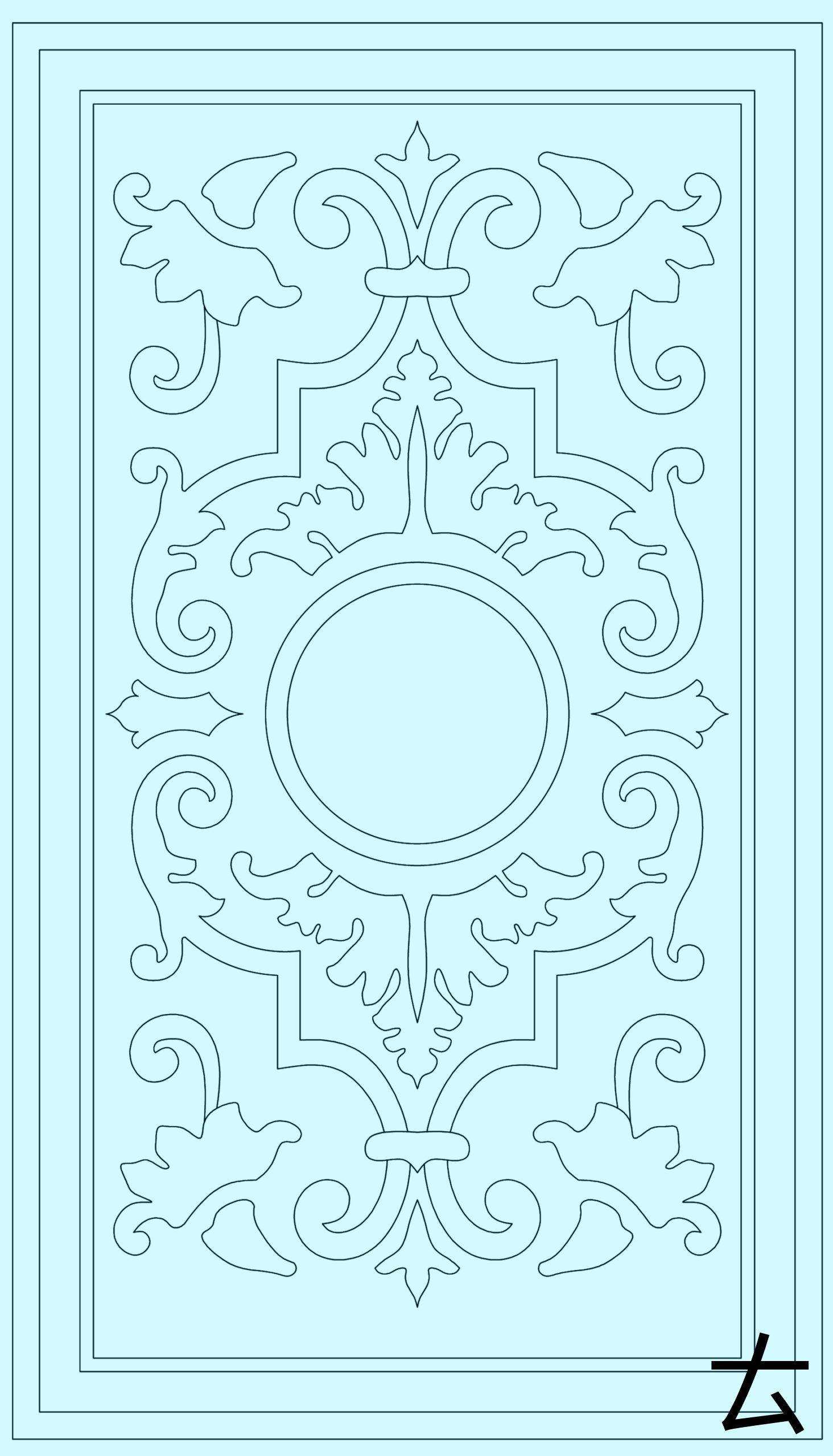 H Olcay Sayiner Autocad Draw Medallion Mandala Autocad Ceilingdesignwithfan Draw Ho Schablonenmuster Schablone Designs Bastelarbeiten