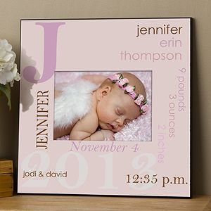 ee806e8e0a2 All About Baby Personalized 5x7 Wall Frame For Girls - 10750 | Gifts ...