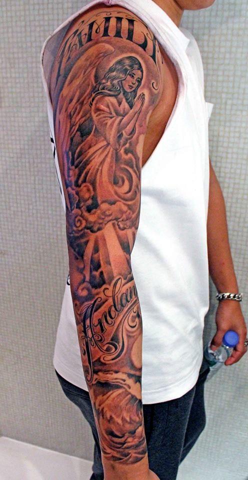 Full sleeve tattoos pinterest tattoo for Fake tattoo sleeves toronto