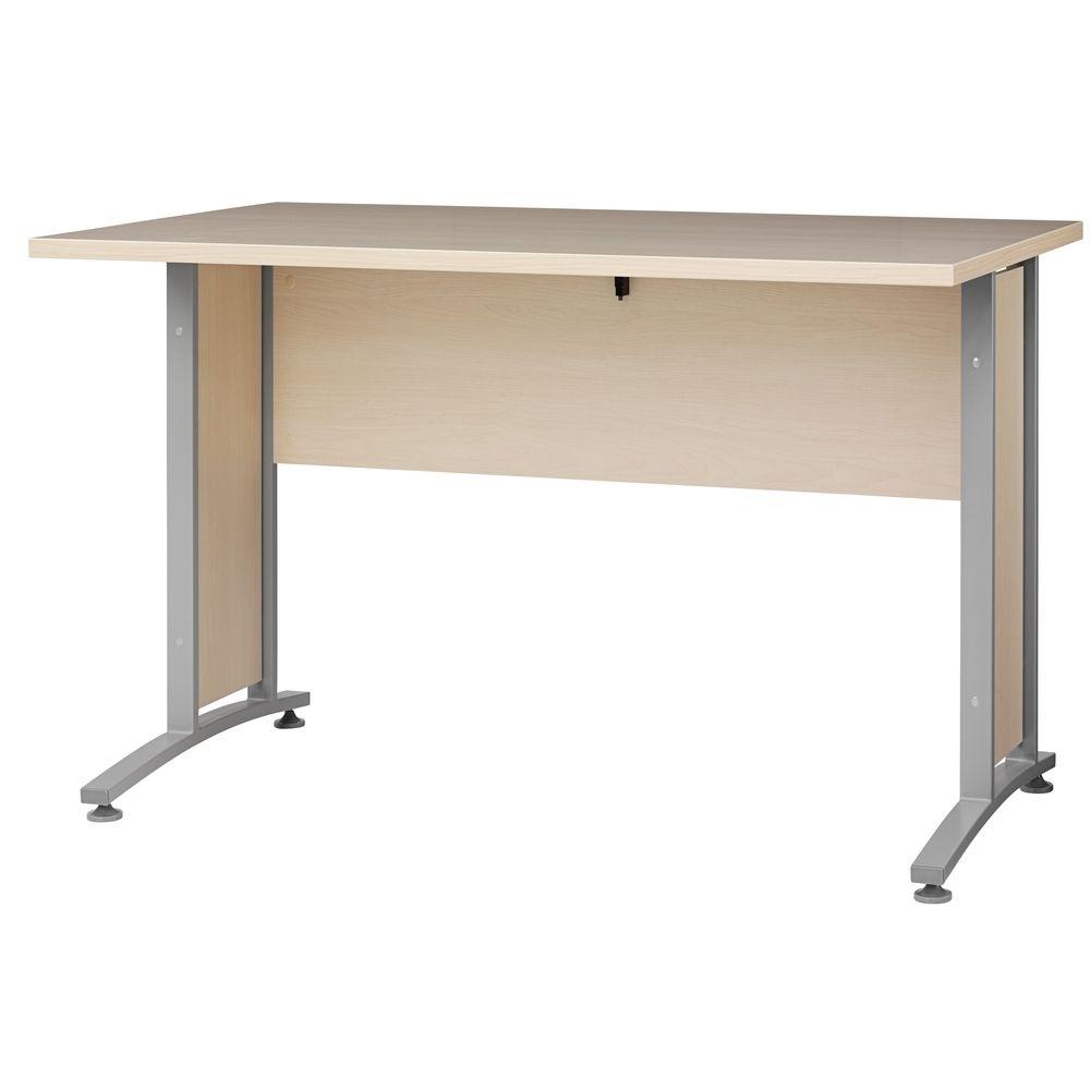 Bürosystem Prima Schreibtisch 120x80 cm Ahorn Silber Jetzt ...