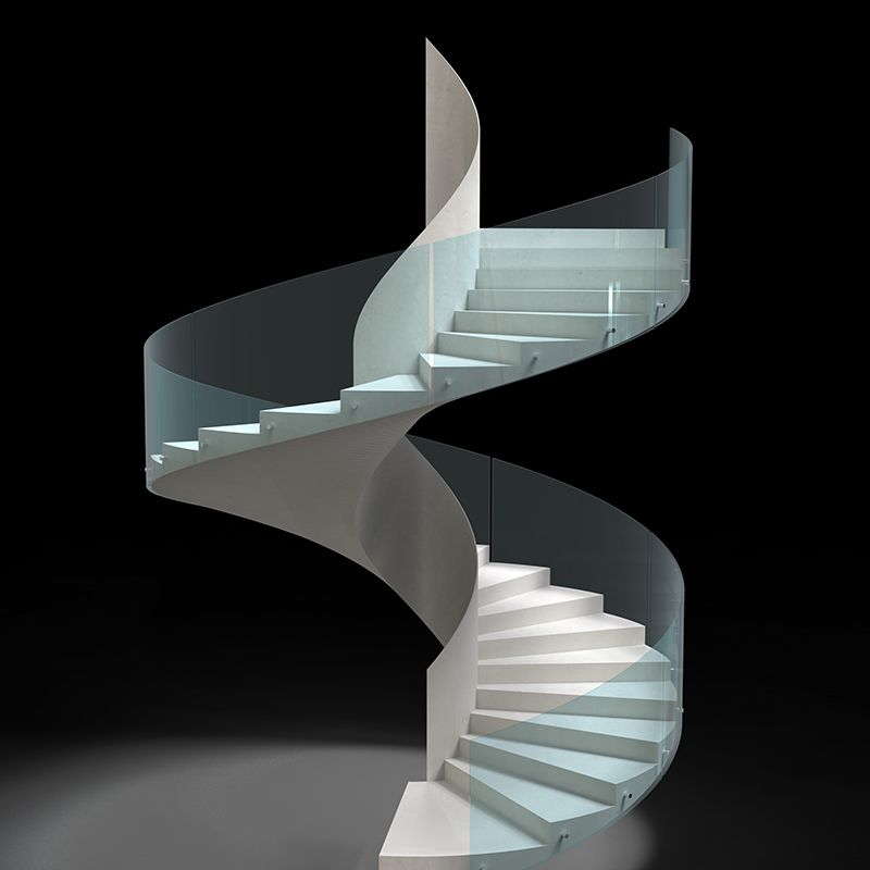 Glass Spiral Staircase# Steel structure staircase with ...
