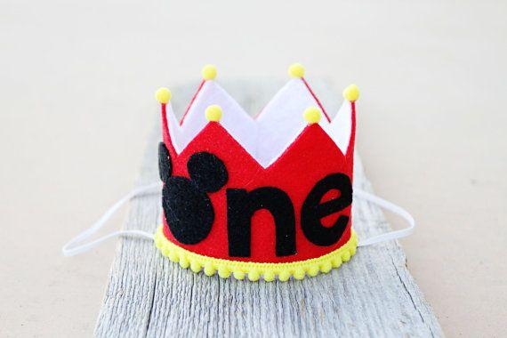Boys 1st Birthday Small Mickey Crown