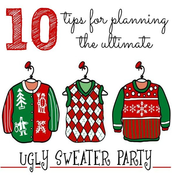 Ugly Christmas Party Sweaters: 10 Tips For Throwing An Ugly Christmas Sweater Party