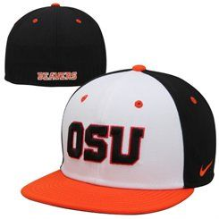95bb83e78 Nike Oregon State Beavers True Colors Authentic Performance Fitted Hat -  White/Orange/Black