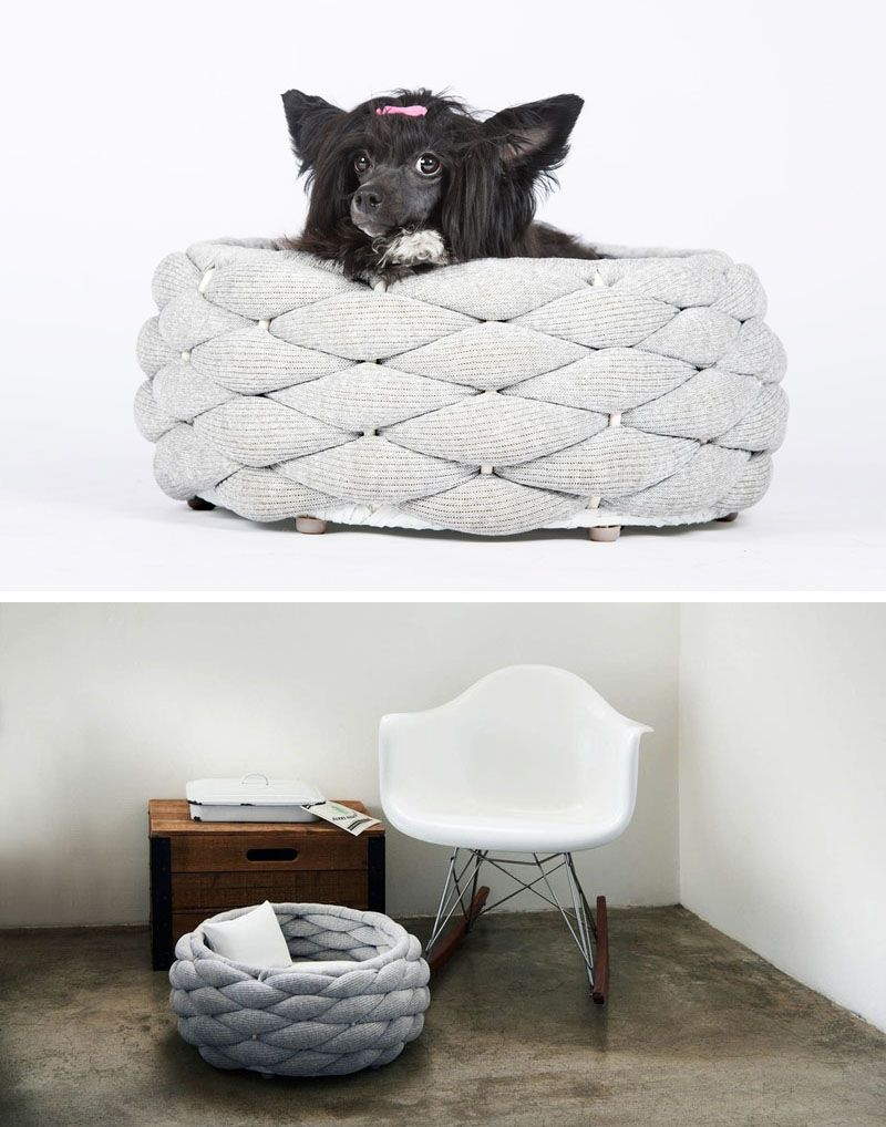These Woven Pet Beds Give Your Fur Friends A Secure Place To Sleep  # Muebles Sleeping Dogs