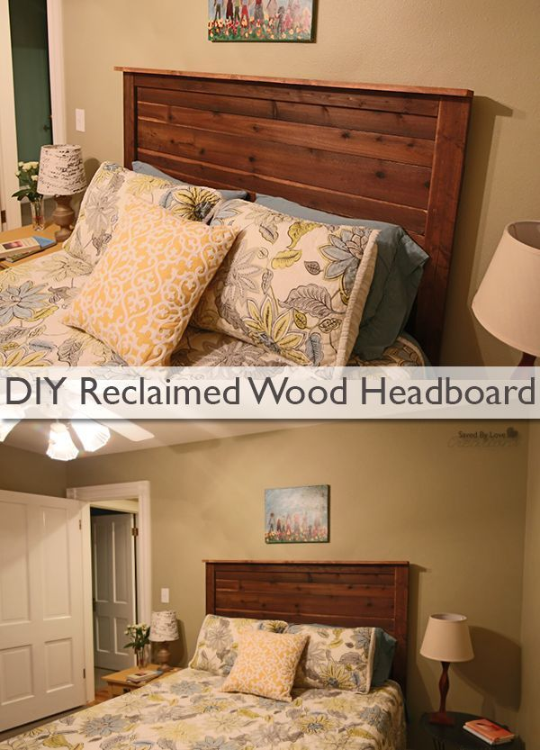 Decor DIY Inspiration How to make a headboard from reclaimed fence boards