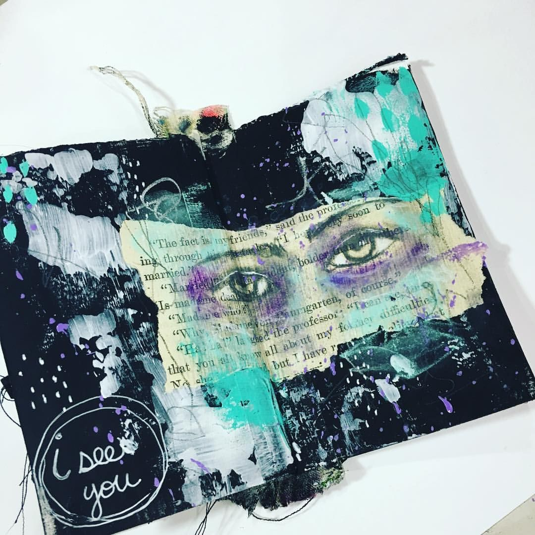 "86 Likes, 2 Comments - Tiffany Goff Smith (@southerngals_designs) on Instagram: ""Today's Mini Mixed Media Monday. Journal tutorial is live on my YT Channel. (Link now live) What's…"""